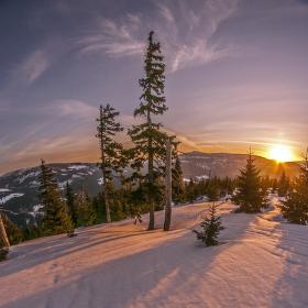 Zimní výšlap pro východ Slunce