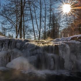 Zimní vodopád Mohelnice