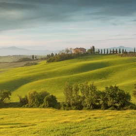 jarní toskánské ráno