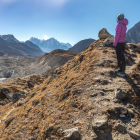 Výhled na ledovec Ngozumba