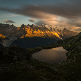 Storm over Mont Blanc