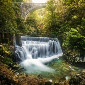 Vodopád na řece Soče