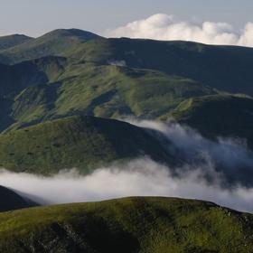 Pohled do Černohorského masívu