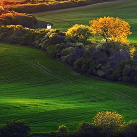 Západ slunce ve Strážovicích