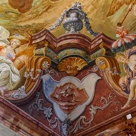 Stropní výzdoba zámku v Manětíně
