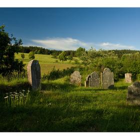 ...židovský hřbitov Staré město pod Landštejnem...