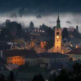 Noční Kašperské Hory