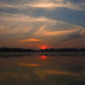 východ sluníčka nad Jesenici