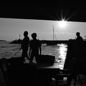 Večer v přístavu