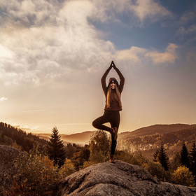 Adelin a její ranní yoga