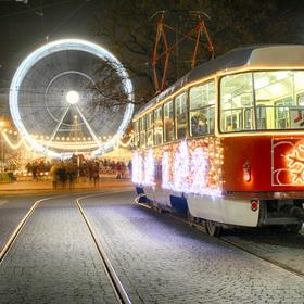Vánoční tramvaj v Brně