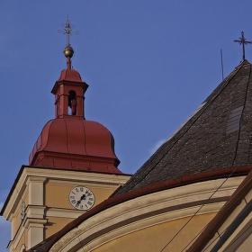Věžička kostela Máří Magdaleny v Lanškrouně.