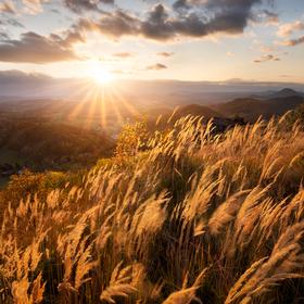 Západ slunce na Středním vrchu
