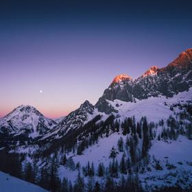 Ráno na Dachsteinu