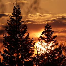 Západ slunce balkonová