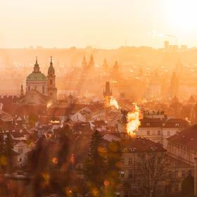 Praha při východu slunce