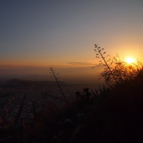 Západ slunce nad Athénami