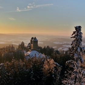 Západ slunce na Kašperkem
