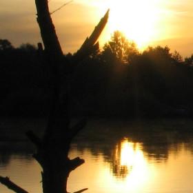Východ slunce na lagunou