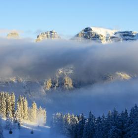 mrazivé alpské svítání