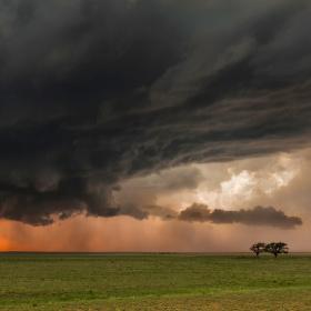 Příchod bouřky...