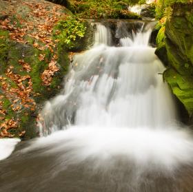podzim u Rešovských vodopádů