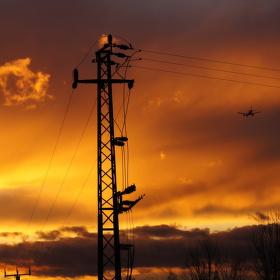 Barvy pozního listopadového slunce