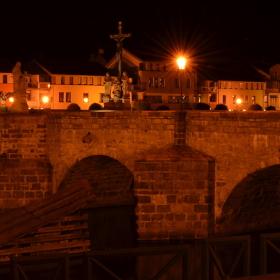 Kamenný most - město Písek