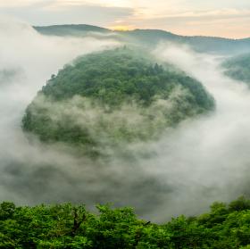 Mlha v udoli