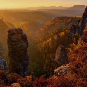 Barevný podzim v Saským Švýcarsku