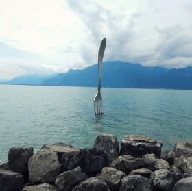 Pro zpestření - vidlička v jezeře