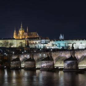 Zimní panorama Praha