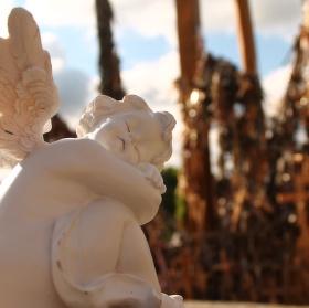 Anděl na hoře křížů