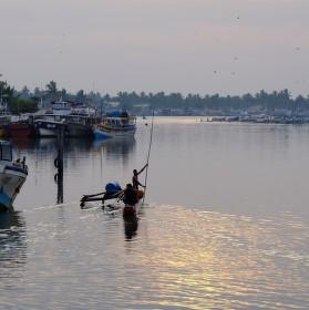 Rybářská zátoka v Negombu