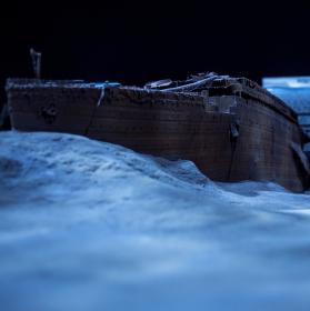 model vraku nepotopitelné lodi Titanic