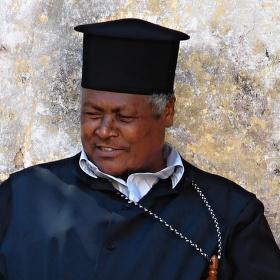 Etiopský kněz ve svatém městě