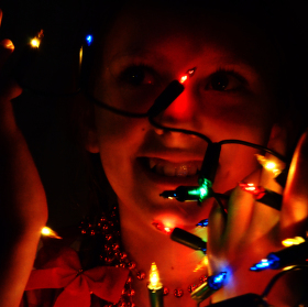 Dětská radost, když přichází Vánoce :)