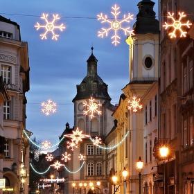 Kouzlo vánočního podvečera v Plzni