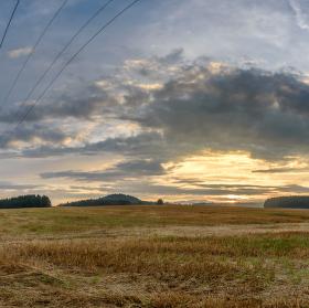 Západ slunce u Rynoltic