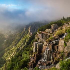Vodopád v oblacích