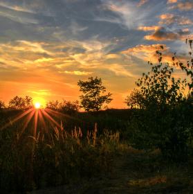 V paprscích zapadajícího slunce