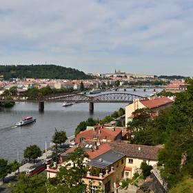 Pohled z Vyšehradu.