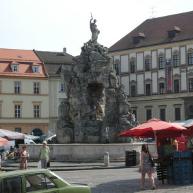 Kašna na Zelném trhu v Brně.