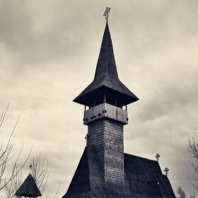 Dřevěný rumunský kostel v Mostě