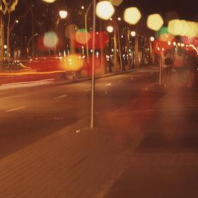 Bulváry Barcelony po setmění