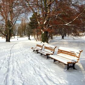 Zimní lavičky nelákají