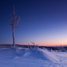 ...mrazivý večer v horách Krušných