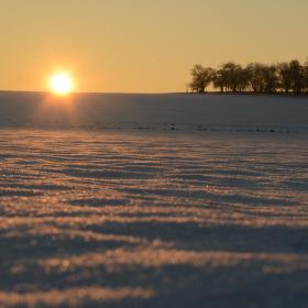 časné zimní ráno