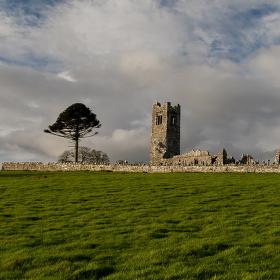 zima v Irsku- Slane Abbey