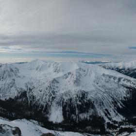 Výhľad z Kasprov vrch